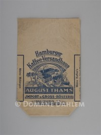"Papiertüte ""Hamburger Kaffee-Versandhaus August Thams"""