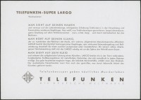 """Werbeprospekt: Telefunken Largo  Provenance/Rights:  Stiftung Deutsches Technikmuseum Berlin (CC BY-NC-SA)"